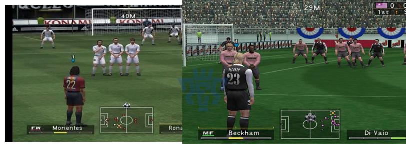 Скриншоты из PES 3
